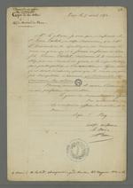 Copie de la lettre adressée au maire de Vaise dans laquelle on lui demande de signifier au père d'Etienne Lardet que la demande de recours en grâce doit être effectuée par le détenu lui-même.