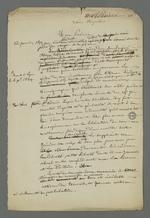 Brouillon de la demande en grâce d'Etienne Lardet, condamné à la déportation par le premier conseil de guerre du