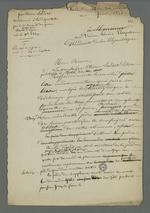 Second brouillon de la demande en grâce d'Etienne Lardet, condamné à la déportation par le premier conseil de guerre du