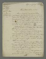 Copie de la lettre de l'épouse de Petit, détenu pour avoir assisté à l'enterrement de son voisin Recordan, adressée à sa belle-mère.