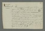 Certificat non signé, à l'attention du père de Recordon à l'enterrement duquel s'est rendu Petit, acte pour lequel il fut arrêté et mis en préventive.