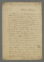 Lettre de Pierre Berthet, détenu à la prison de Roanne depuis le