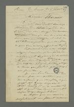 Lettre de Berthet, détenu à la prison de Roanne à la suite de l'insurrection de juin 49, dans laquelle il demande à Pierre Charnier de mettre en place une pétition pour demander sa libération et lui indique les personnes qui l'appuieront.