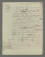 Brouillon d'une lettre de Pierre Charnier adressée à Berthet, détenu à la prison de Roanne à la suite de l'insurrection de juin 49.