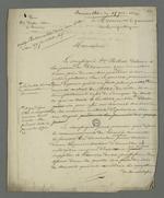 Demande adressée au procureur de la république pour qu'il fasse procéder à l'interrogatoire de François Palu, détenu à la prison de Roanne à la suite de l'insurrection de juin 49.