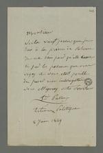 Lettre de François Palu, détenu à la prison de Roanne à la suite de l'insurrection de juin 49, dans laquelle il demande à Pierre Charnier de faire accélérer son interrogatoire.