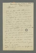 Lettre de François Palu, détenu à la prison de Roanne à la suite de l'insurrection de juin 49, adressée à Pierre Charnier.