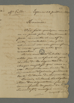 Lettre de Pierre Charnier adressée à François Palu, détenu à la prison de Roanne à la suite des évènements de juin 49.