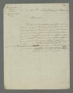Brouillon d'une lettre adressée à François Palu, détenu à la prison de Roanne à la suite des évènements de juin 49.