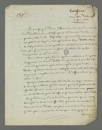 Copie de la déposition certifiée de Pierre Charnier concernant les qualités morales de Palu qu'il a pu connaître lorsque ce dernier était membre du comité central de l'Hôtel de ville en 1834.