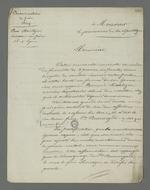 """Demande adressée au procureur de la République, rédigée par Pierre Charnier pour le compte de l'épouse de François Montezin, accusé d'avoir déclaré, à la suite insurrection de juin 1849, """"Ce n'est pas encore fini ! Nous recommencerons demain""""."""