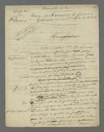 Lettre de Pierre Charnier adressée au général Gémeau dans laquelle il plaide la cause de Jean-François Lacroix, ancien militaire reconverti en cabaretier, établissement où il fut arrêté suite à l'insurrection de juin 1849.