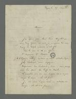 Lettre d'Henry Randanne adressée à Pierre Charnier dans laquelle il lui communique les détails de l'affaire dans laquelle ce dernier va le défendre contre l'accusation qui lui ait faite d'avoir crié de ne pas recharger les armes lors de l'émeute du