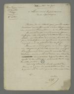 Seconde lettre de Pierre Charnier adressée au procureur de la république dans laquelle il demande d'hâter l'interrogatoire de l'accusé Fêvre, arrêté à la suite de l'insurrection de juin 1849, dont la santé mentale semble se détériorer du fait de la détention.