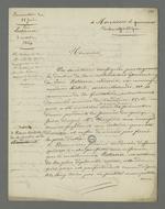 Lettre de Pierre Charnier adressée au procureur de la république concernant l'affaire Jean Lestierra, incarcéré le