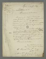 Lettre de Pierre Charnier et Parelles, avocat, adressée au docteur Gerbeaud dans laquelle ils démentent leur prétendu crédit accordé aux rumeurs lancées par Descombres et Boulogne, rumeurs selon lesquelles le médecin aurait accusé Pierre Charnier et Parelles d'avoir participé à l'insurrection de juin 1849.