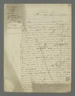 Brouillon d'une lettre de Pierre Charnier adressée à Calet, dont les fils sont détenus à la suite de l'insurrection de juin 1849, lettre dans laquelle il déplore les conséquences négatives qui touchent la classe ouvrière à chaque révolte.