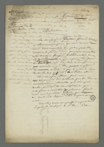 Brouillon de Pierre Charnier de la lettre adressée au procureur de la république dans laquelle il plaide la cause de Girad, dit Cuzin, accusé d'avoir coopéré avec les insurgés de juin 1849 et détenu depuis à l'Hôtel-Dieu.