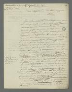 Lettre de Pierre Charnier adressée à Valotte à qui il demande d'intervenir en tant que témoin à décharge dans l'affaire de Girad, dit Cuzin, accusé d'avoir coopéré avec les insurgés de juin 1849 et détenu depuis à l'Hôtel-Dieu.