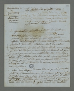 Lettre de Coste, détenu au fort de la Vitriolerie depuis l'insurrection du