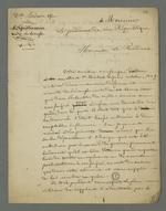 Lettre adressée au procureur de la République, rédigée par Pierre Charnier pour le compte du beau-frère de la tisseuse Boiron, condamné à la détention, après l'insurrection de juin 1849.