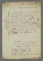 Lettre de Boiron adressée à son beau-frère condamné à la détention, après l'insurrection de juin 1849 et détenu à la prison du Mont-Saint-Michel, dans laquelle elle lui fait part des nouvelles tentatives de recours.