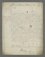 Lettre de Nicod adressée à Pierre Charnier il lui demande de bien vouloir se renseigner sur la demande de Franckini auprès du procureur de la république.