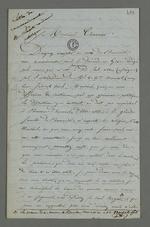 Lettre de remerciement adressée à Pierre Charnier de la part de Clapot, déporté en Algérie qui s'est fait transmettre une demande de grâce à son endroit, rédigée par Pierre Charnier, suivi de la réponse de ce dernier.