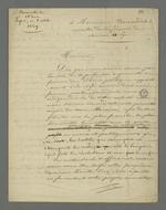 Lettre rédigée par Pierre Charnier adressée à Bonnardet, membre de l'académie des sciences de Lyon, suivie de notes de Pierre Charnier.