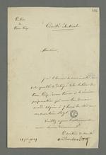 Lettre de Chevalier Tivet, secrétaire du comité électoral de Pierre-Scize, adressée à Pierre Charnier, dans laquelle il l'invite à se rendre à la réunion préparatoire de la commission des délégués de Pierre-Scize.