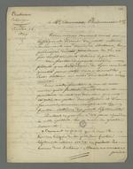 Lettre de Pierre Charnier adressée à Camuset, pharmacien, dans laquelle il l'entretient au sujet des dernières élections législatives et des polémiques qu'elles entraînèrent au sein du parti modéré.