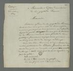 Lettre de Pierre Charnier adressée à Gillet, directeur du journal