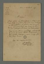 Lettre adressée à Pierre Charnier par Peladan, directeur du journal