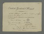 Reçu adressé à Pierre Charnier du versement de la somme de six francs pour cinq mois d'abonnement au journal