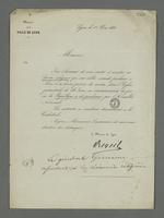 Invitation de Réveil, maire de Lyon, à assister au service religieux en commémoration du jour où la République a été proclamée par l'Assemblée Nationale.