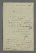Convocation au greffe du Conseil des Prud'hommes pour effectuer une visite au général Castellane, suivie d'une note de Pierre Charnier au sujet de la réaction du général.