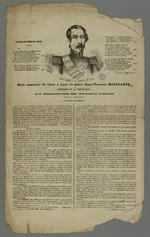 Récit et retranscription du discours du prince Louis-Napoléon Bonaparte, président de la République, lors de son séjour à Lyon du