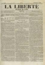 La Liberté : journal de Lyon, N°2