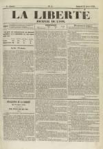 La Liberté : journal de Lyon, N°4