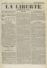La Liberté : journal de Lyon, N°5