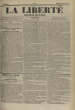 La Liberté : journal de Lyon, N°77