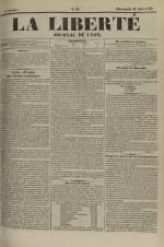 La Liberté : journal de Lyon, N°82