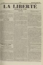 La Liberté : journal de Lyon, N°85