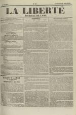 La Liberté : journal de Lyon, N°87