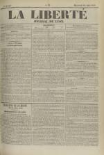 La Liberté : journal de Lyon, N°92