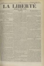 La Liberté : journal de Lyon, N°96