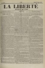 La Liberté : journal de Lyon, N°98