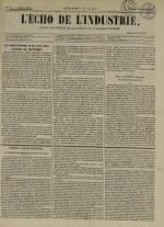 L'Echo de l'industrie : journal des intérêts des travailleurs et de la fabrique lyonnaise, N°10