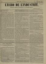 L'Echo de l'industrie : journal des intérêts des travailleurs et de la fabrique lyonnaise, N°2
