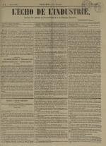 L'Echo de l'industrie : journal des intérêts des travailleurs et de la fabrique lyonnaise, N°3